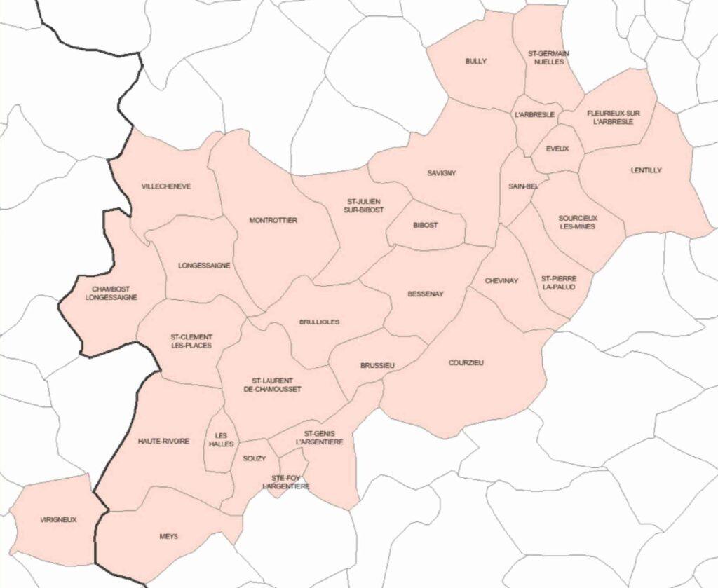 Territoire CPTS Monts du Lyonnais